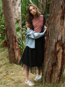 Ouyue欧玥2018黑色半裙