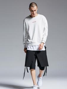 Fivecaman法卡蔓新款白色卫衣