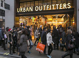 服装零售商仍在过冬 Urban Outfitters圣诞销售放缓