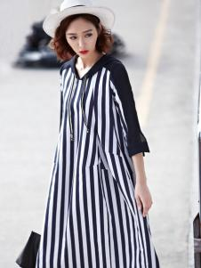 ONE ONLY条纹连衣裙