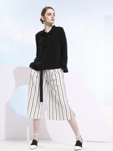 欧米媞2018春夏新款条纹半身裙