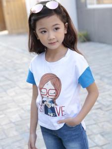 土巴兔2018春夏新款女童T恤