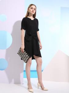 欧米媞新款黑色连衣裙