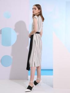 欧米媞新款无袖连衣裙