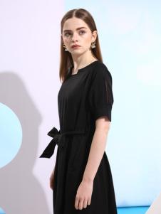 欧米媞新款收腰连衣裙