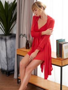 欧诗雨新款红色睡衣
