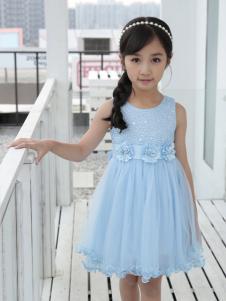 土巴兔2018新款蓝色连衣裙