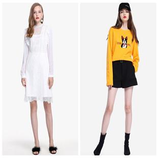 欧时力一线品牌折扣女装欧美时尚夏装货源打包分份批发