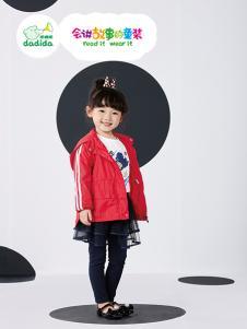 嗒嘀嗒2018新款红色外套
