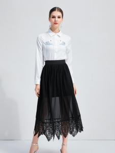 艾丽哲2018新款黑色半裙