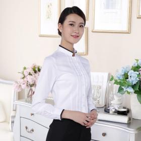 湖南工作服定制2018一件代发上衣女式衬衫