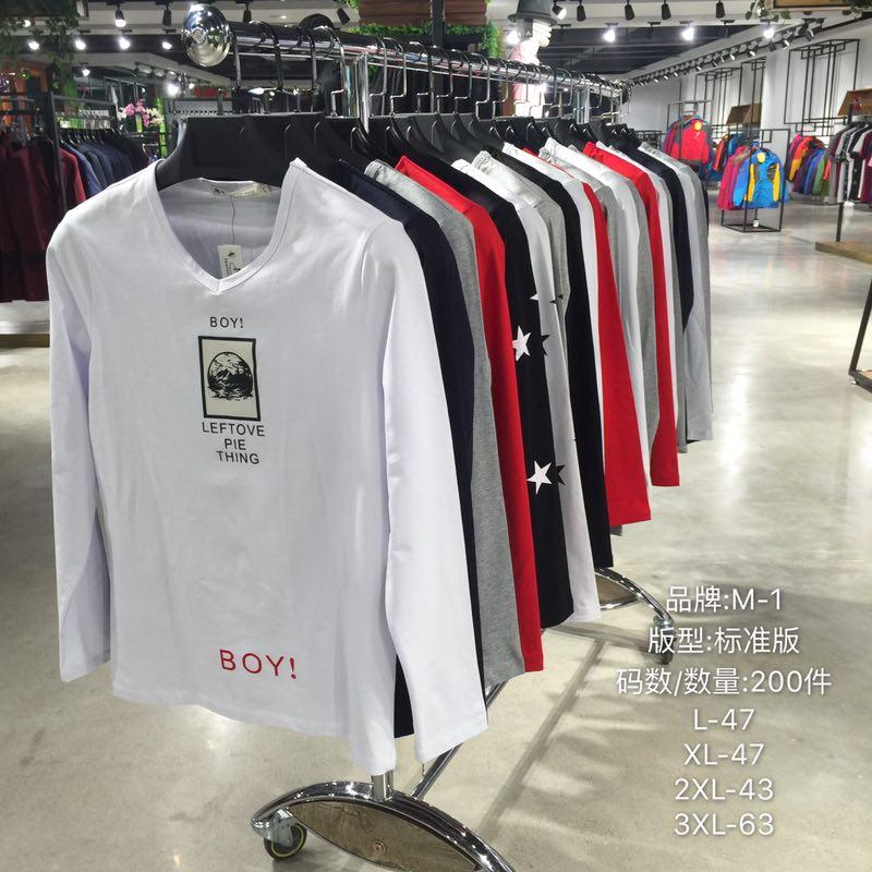广州品牌折扣店男装T恤批发货源厂家直销