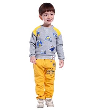 澳恬超级飞侠系列黄色裤子