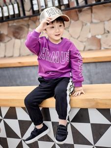 金果果18男小童紫色卫衣