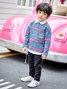 金果果18男小童条纹卫衣