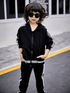 金果果18新款男童黑色外套