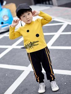 金果果童装金果果18男小童黄色卫衣