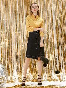 迪笛欧18春装新款半裙