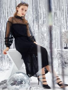 迪笛欧18春装新款网纱连衣裙