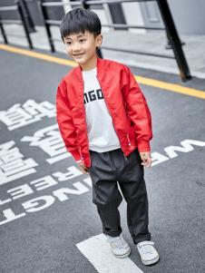 金果果18新款男童红色外套