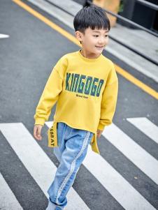 金果果18男大童黄色卫衣