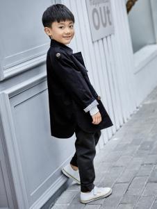 金果果18男大童新款黑色外套