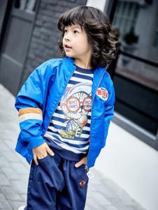 金果果18男大童蓝色外套