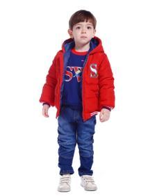 澳恬超级飞侠系列红色棉袄 款号301620