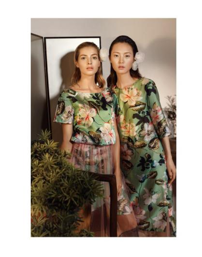 EDISA伊缔莎2018新款绿色裙 款号301718