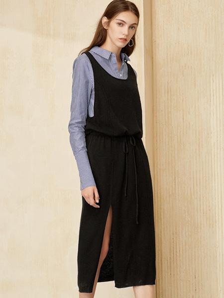 布莎卡黑色连衣裙