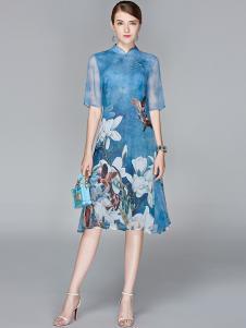 司合伊18新款雪纺连衣裙