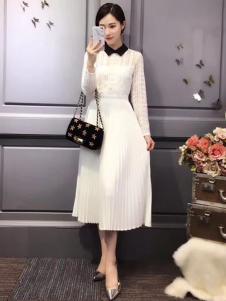 杰恩蒂白色连衣裙