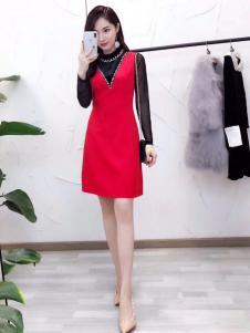 杰恩蒂红色连衣裙