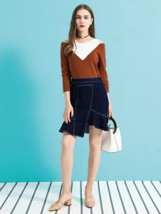 金蝶茜妮18新款拼接假两件时尚C111连衣裙