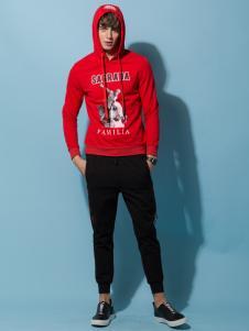 它钴男装18新款红色外套