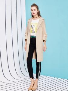 金蝶茜妮18新款新款中长款风衣外套时尚修身