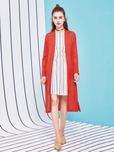 金蝶茜妮18新款长款风衣外套大码女装开衫薄外搭中袖披肩空调衫女