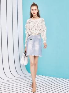 金蝶茜妮18新款套装裙女秋装时尚两件套