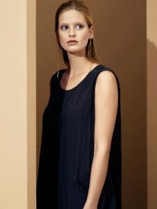 唯简尚女装黑色连衣裙