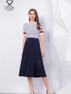 2018迪丝爱尔条纹淑女裙装