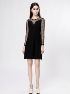 音非女装唯美小黑裙18新款