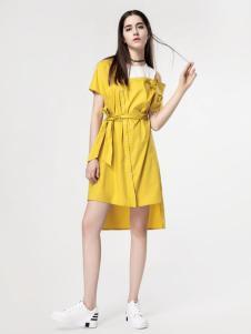 音非女装黄色靓丽裙