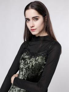 音非女装18春新款小黑裙