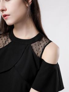 音非女装小黑裙18新款