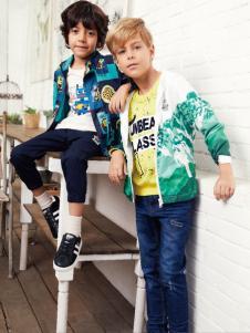 杰米熊童装男童18印花外套