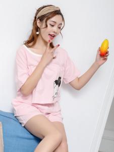 珍妮芬睡衣甜美粉色套装