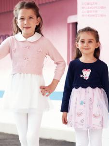 杰米熊女童装18甜美连衣裙