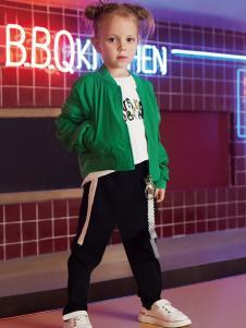 YukiSo童装女童绿色夹克外套