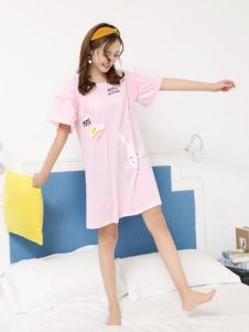 珍妮芬女款睡衣粉色系列