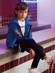 YukiSo童装2018男童蓝色夹克